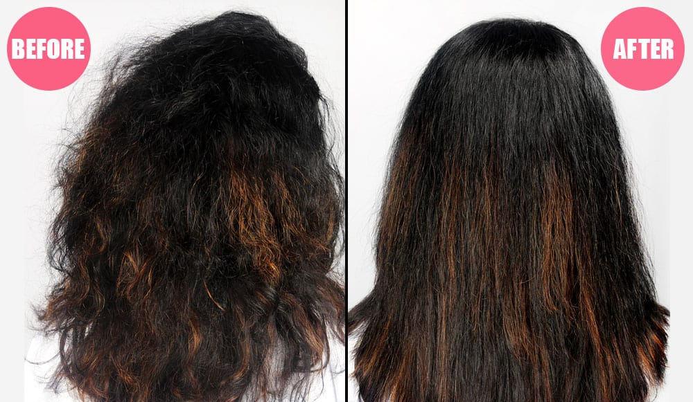 babosa no cabelo antes e depois
