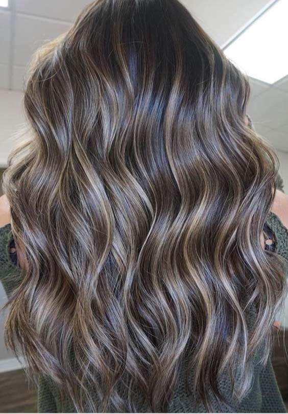 luzes no cabelo