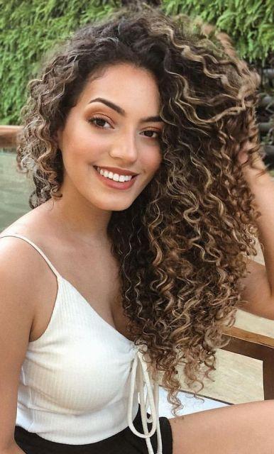 fotos de luzes nos cabelos