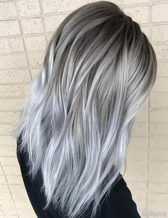 cabelo platinado cinza