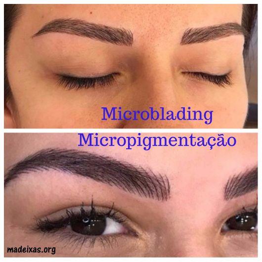 diferença micropigmentação e microblading