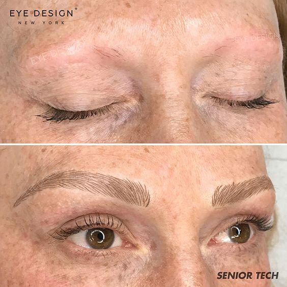 micropigmentação de sobrancelha Antes e Depois