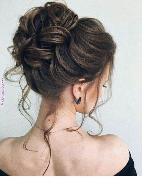 penteados simples para festa