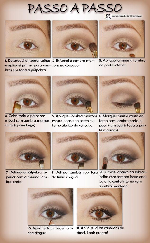 maquiagem olhos passo a passo