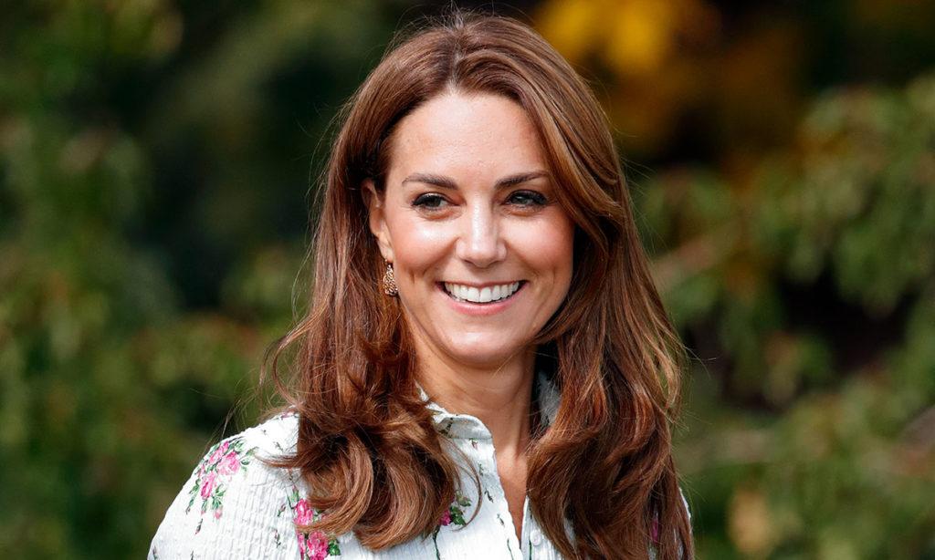 Cabelo castanho claro em Kate Middleton