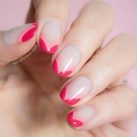 Francesinha diagonal dupla rosa