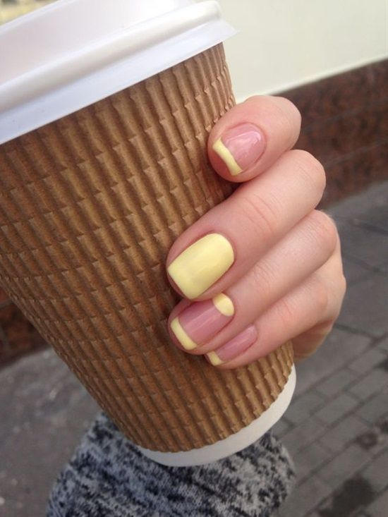 Francesinha invertida amarela