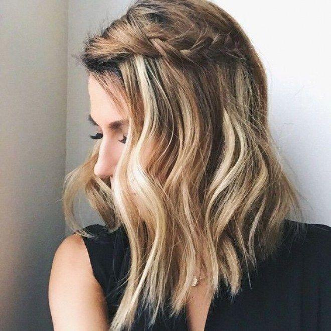 Penteado com cachos no cabelo curto