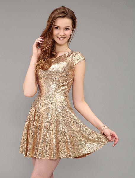 vestido 15 anos com paete dourado