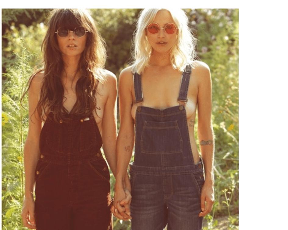 jardineira jeans anos 70