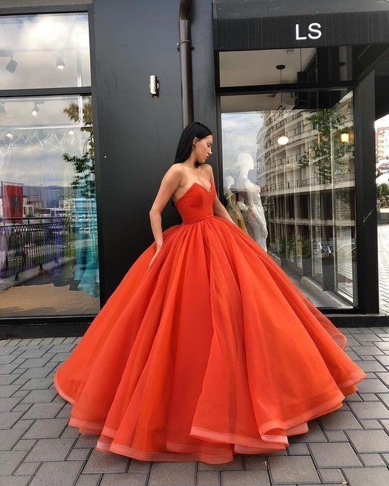 Vestido festa laranja