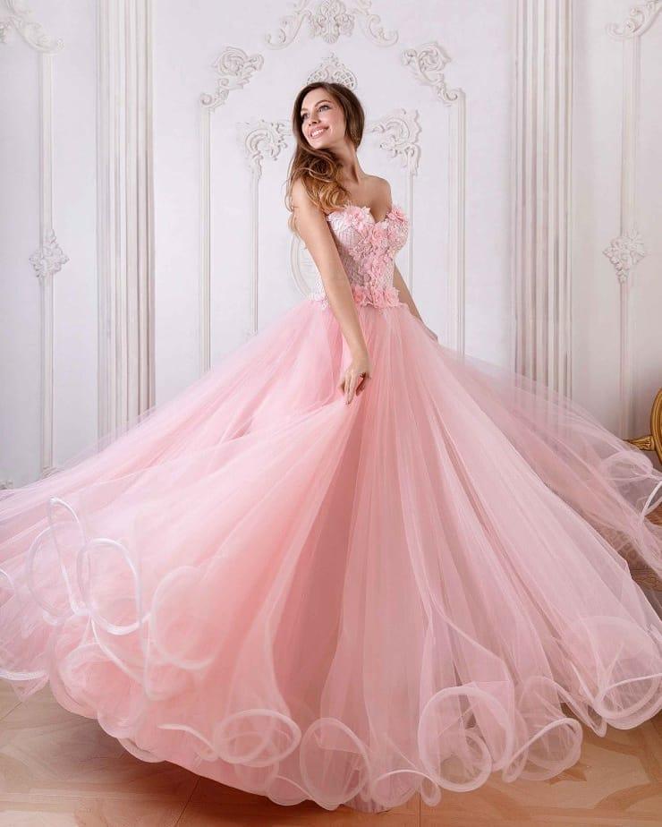 Vestido 15 anos rosa