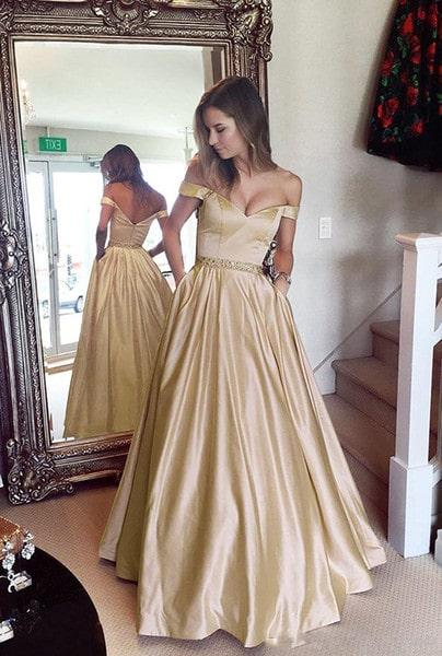 Vestido 15 anos dourado