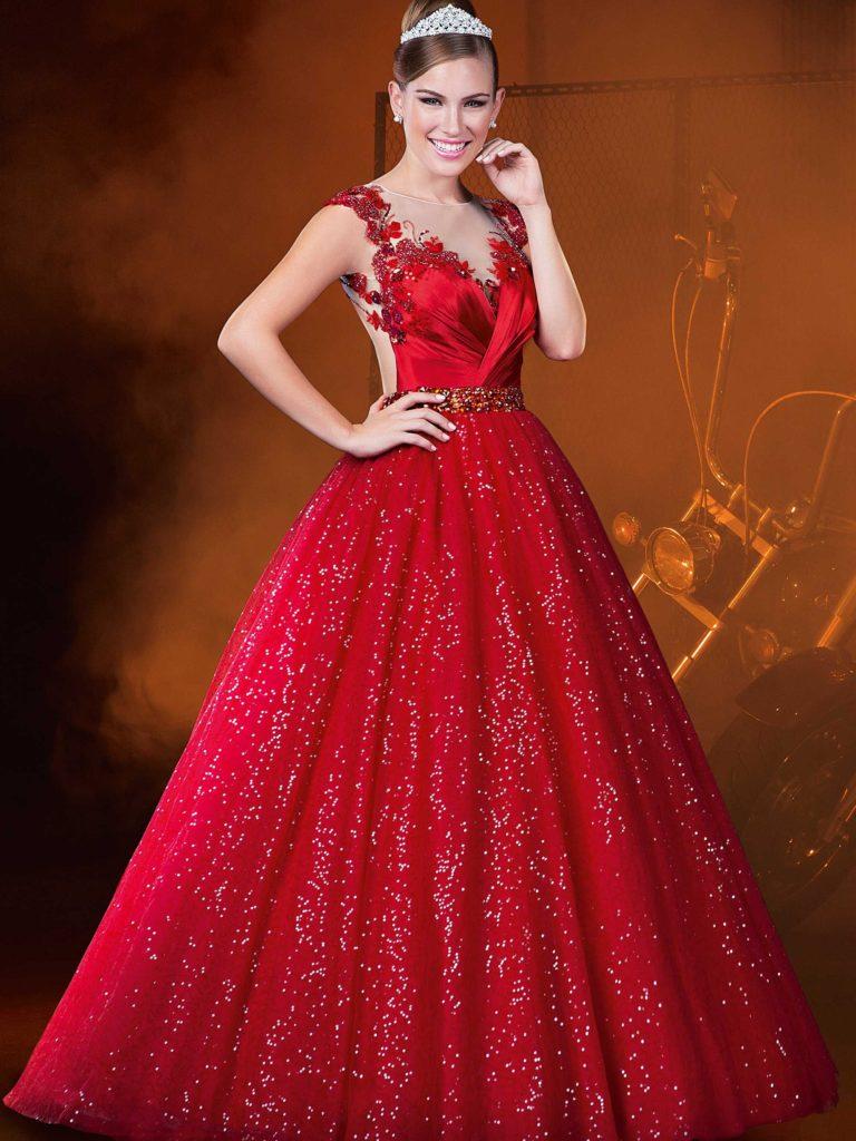 Vestido debutante brilhante
