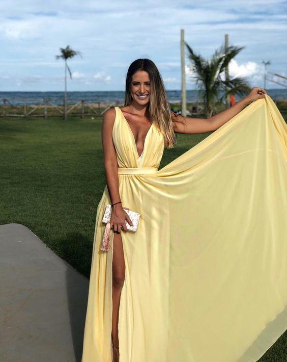 Vestido amarelo casamento