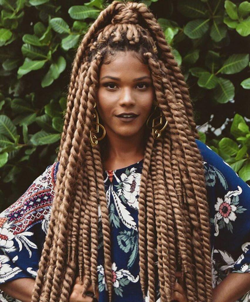 Penteados com cabelo box braid
