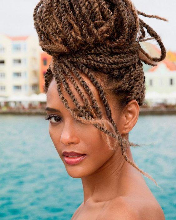 Penteados com tranças box braids