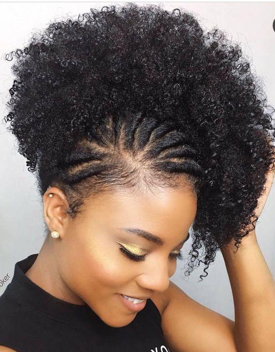 Penteado com tranças no cabelo curto crespo