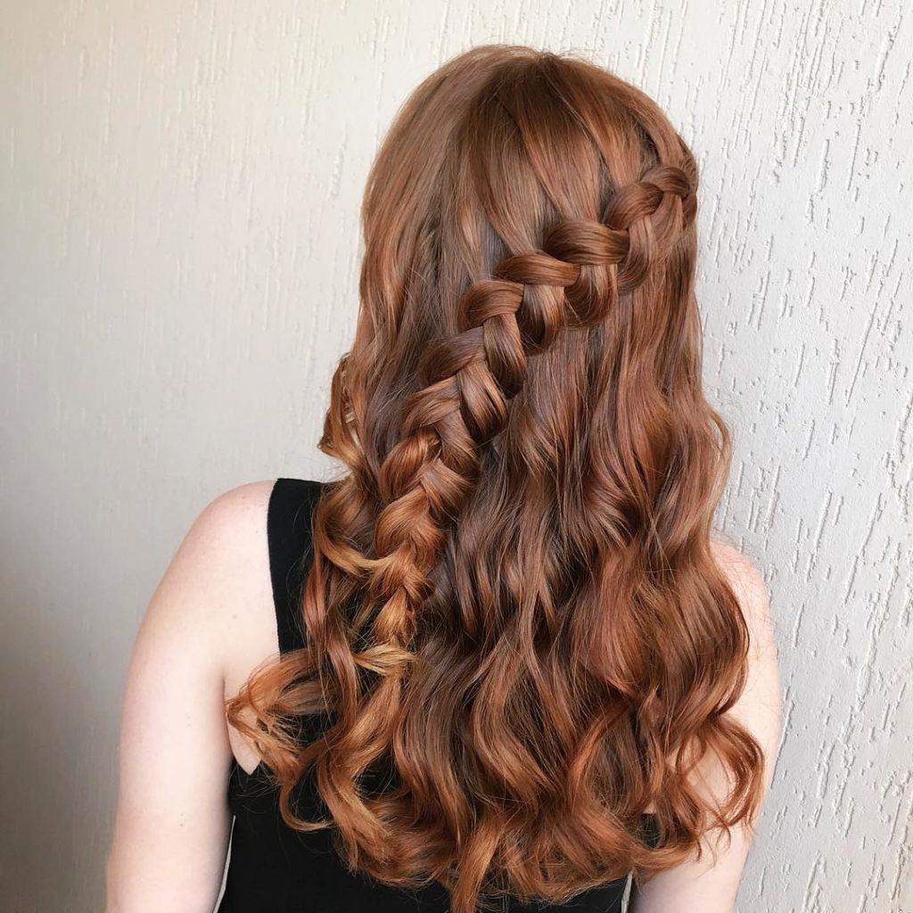Penteado com trança cabelo solto