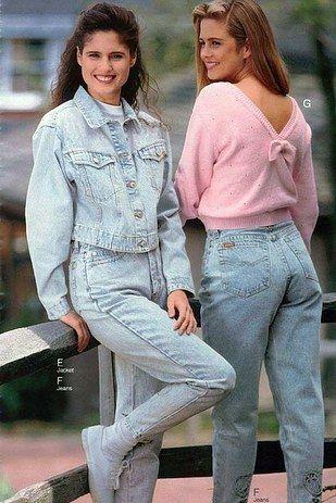 conjunto jeans anos 80