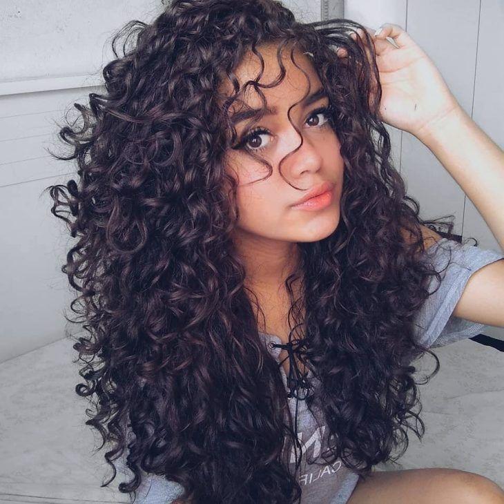 corte de cabelo longo camadas cacheado