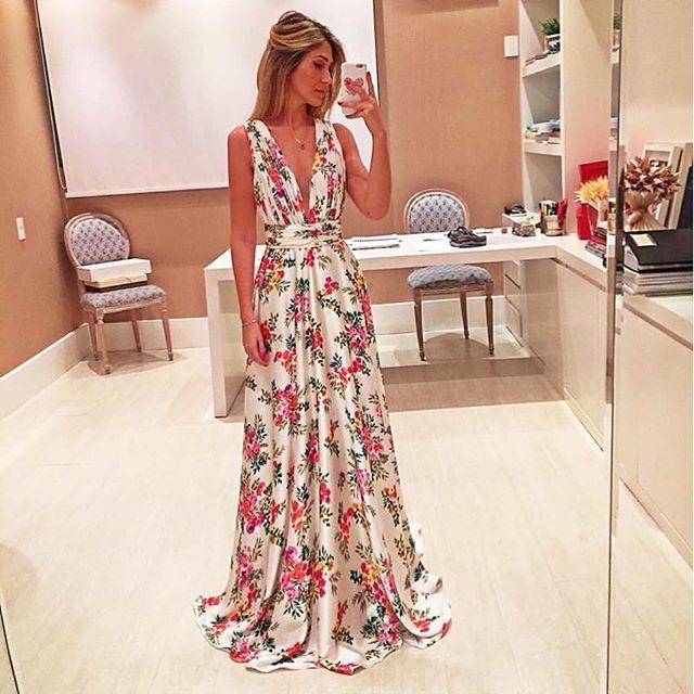 O que vestir no casamento vestido floral