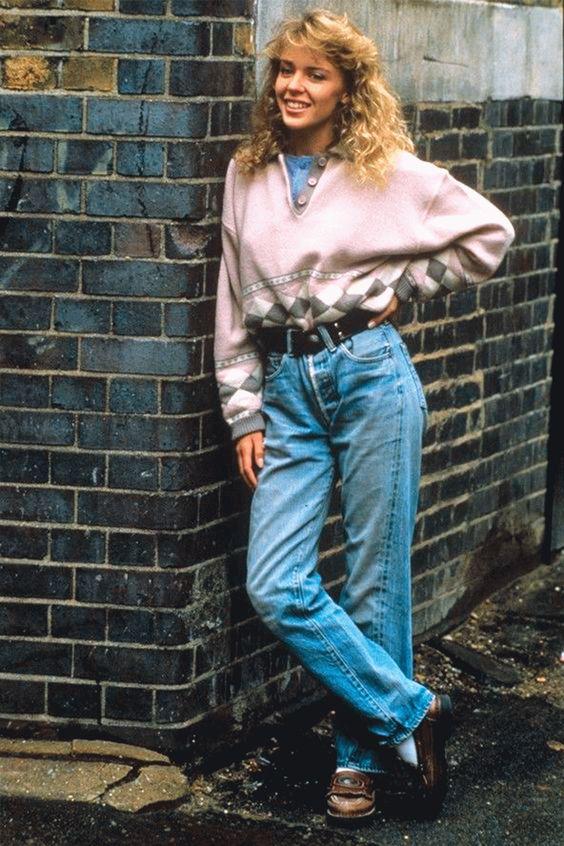 Calça jeans anos 80
