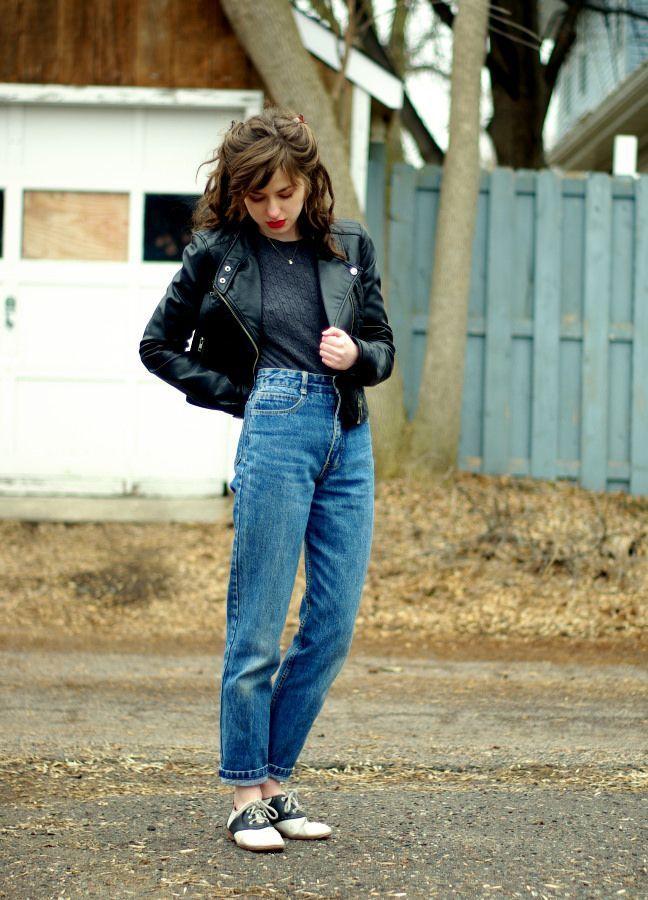 roupas anos 80 jaqueta de couro