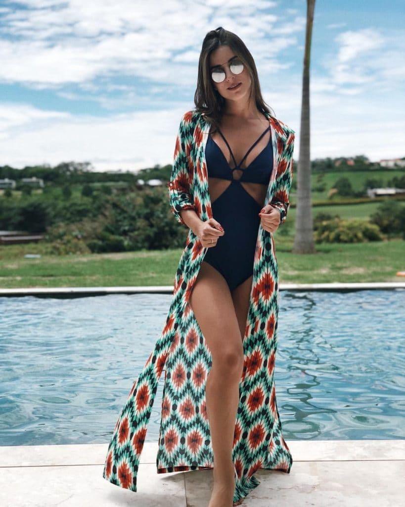 Kimono estampado verão
