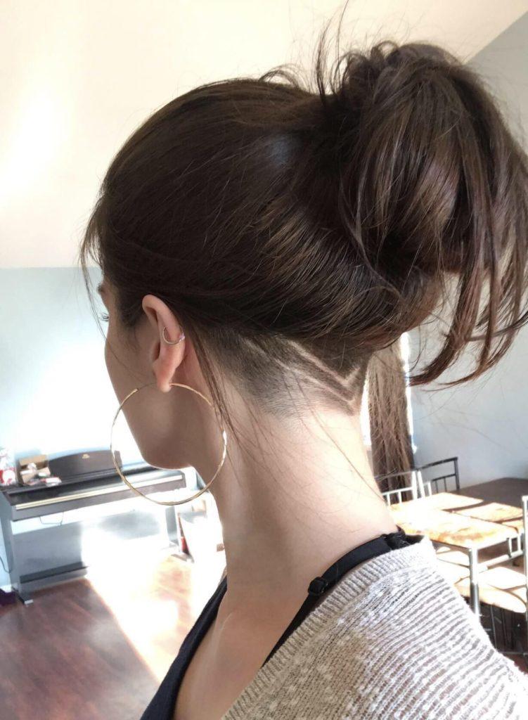 Undercut feminino cabelo liso