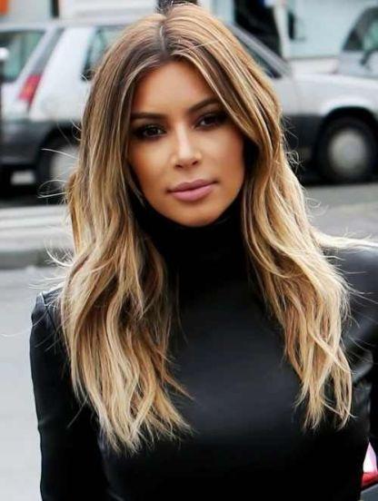 Cabelo moderno na Kim Kardashian