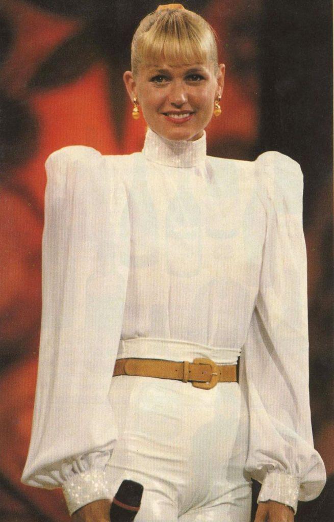 Look branco anos 80
