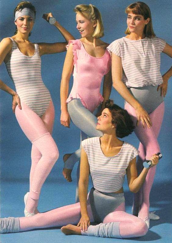 Roupas ftness nos anos 80