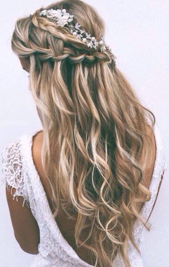 Trança em cabelo de noiva