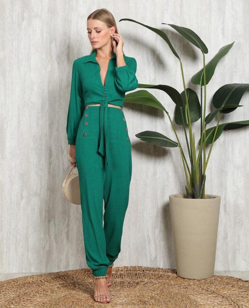 O que vestir conjunto verde linho