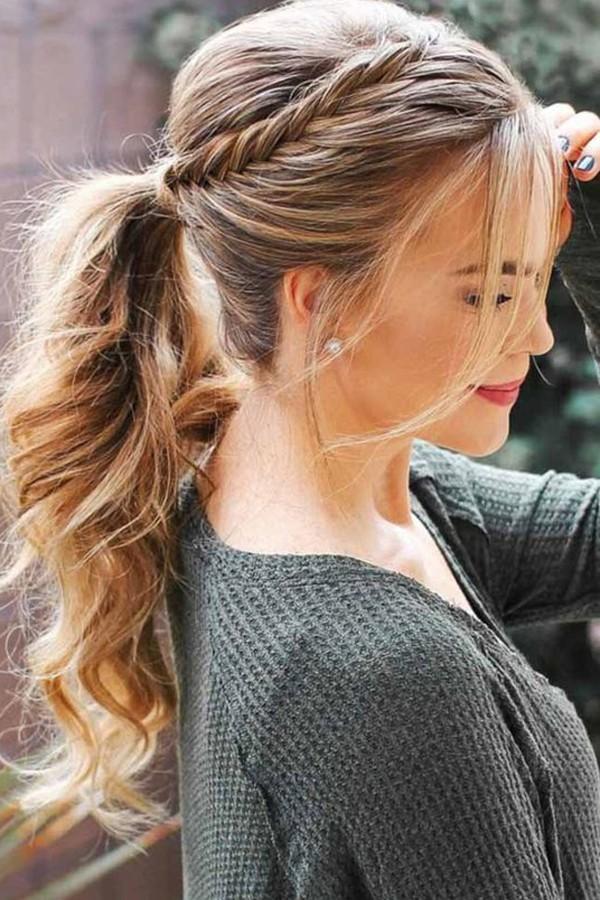 trança simples penteado