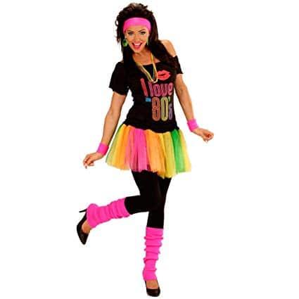 Vestido fantasia anos 80