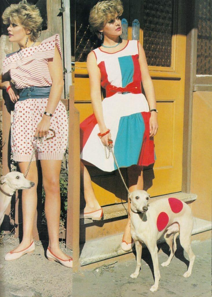 Look verão nos anos 80