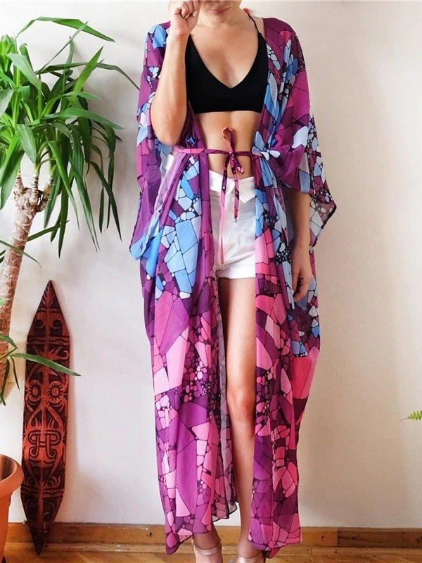 Kimono praia estampado