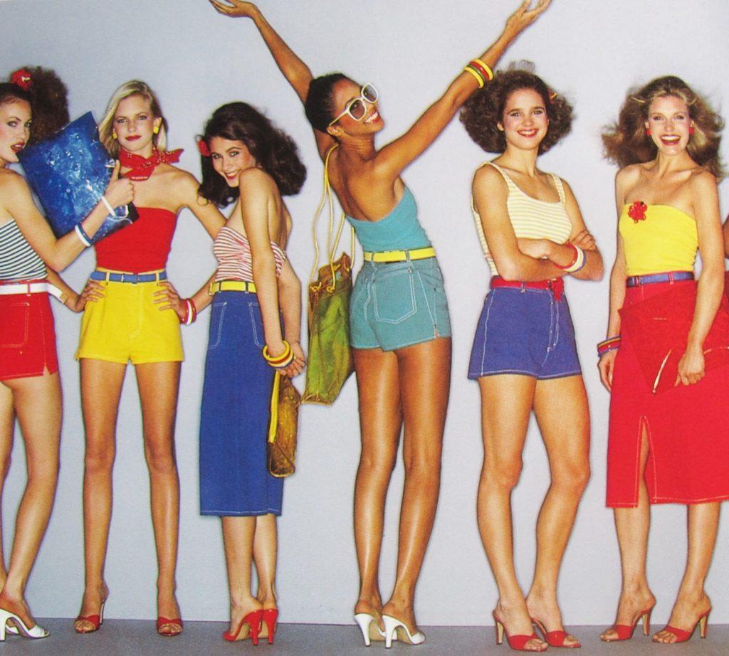 Looks coloridos verão 1980