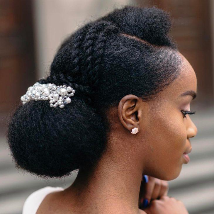 Penteados com trança cabelo crespo