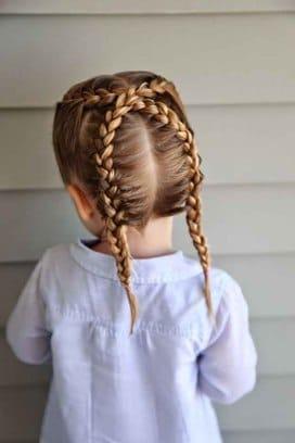 Penteado com tranças fácil