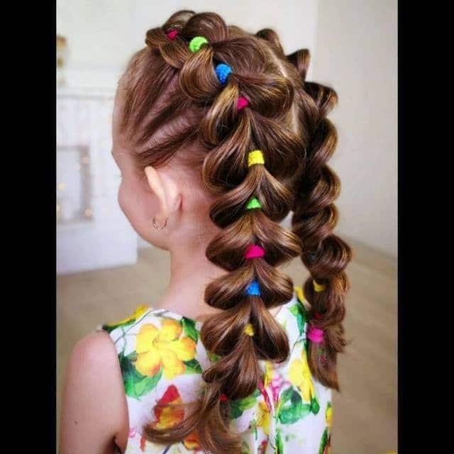 Penteado com trança infantil