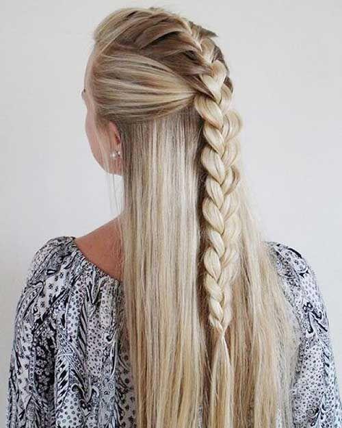 Trança simples cabelo longo