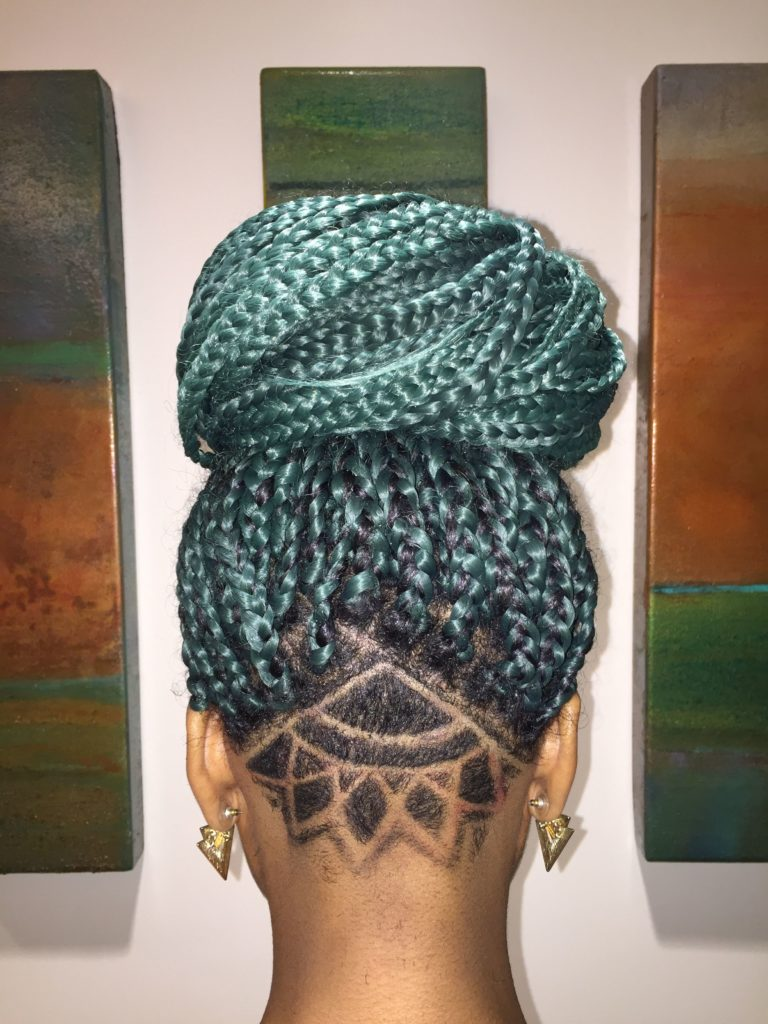 box braids azul