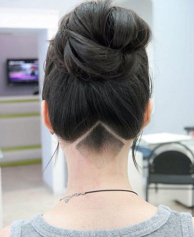 Undercut feminino cabelo preto