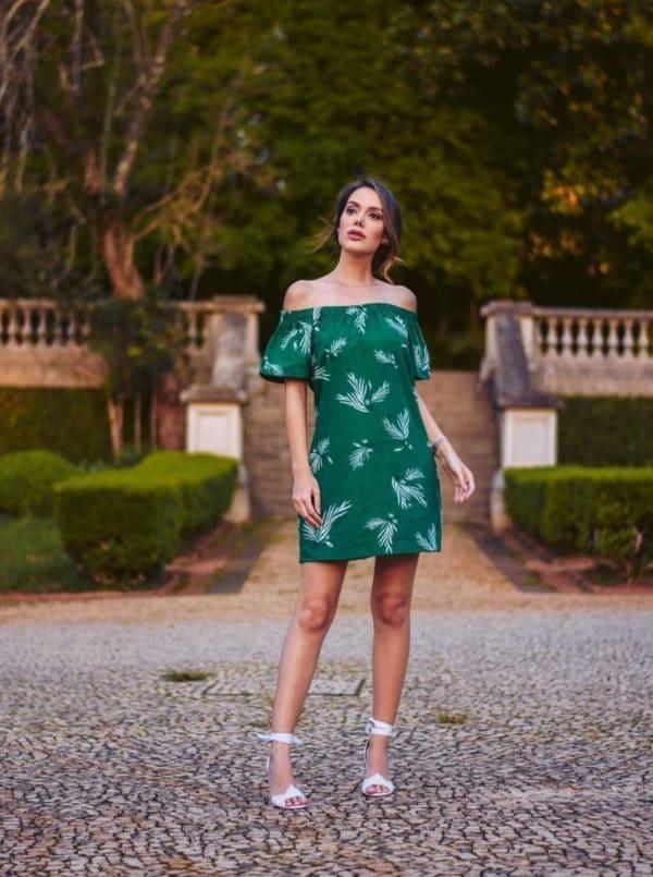 O que vestir vestido verde