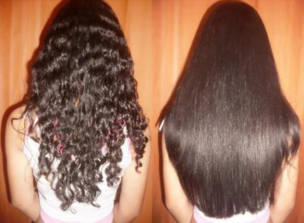 antes depois cabelos soltos