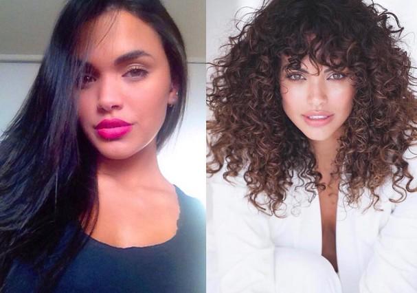 antes e depois cabelos cacheados