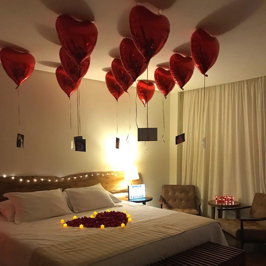 surpresa para namorado com balões
